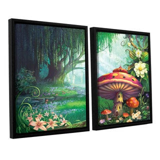 ArtWall Philip Straub 'Enchanted Forest' 2 Piece Floater Framed Canvas Set