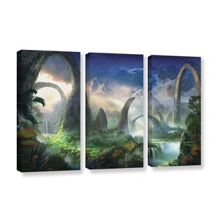 ArtWall Philip Straub 'Great North Road' 3 Piece Gallery-wrapped Canvas Set