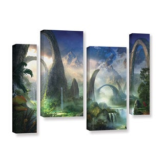 ArtWall Philip Straub 'Great North Road' 4 Piece Gallery-wrapped Canvas Staggered Set