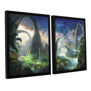 ArtWall Philip Straub 'Great North Road' 2 Piece Floater Framed Canvas Set