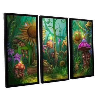 ArtWall Philip Straub 'Meet The Imaginaries' 3 Piece Floater Framed Canvas Set