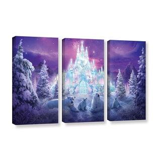 ArtWall Philip Straub 'Winter Wonderland' 3 Piece Gallery-wrapped Canvas Set