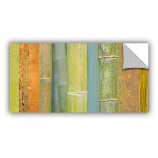 ArtAppealz Cora Niele 'Bamboo Green Orange' Removable Wall Art
