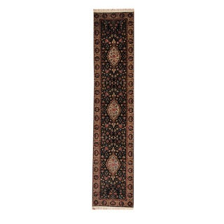 Herat Oriental Pakistani Hand-knotted Tabriz Wool Rug (2'6 x 12'1)