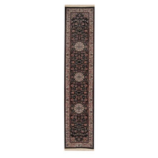 Herat Oriental Pakistani Hand-knotted Tabriz Wool Runner (2'7 x 12'2)