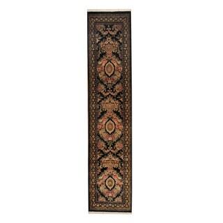 Herat Oriental Pakistani Hand-knotted Tabriz Wool Rug (2'6 x 11'6)