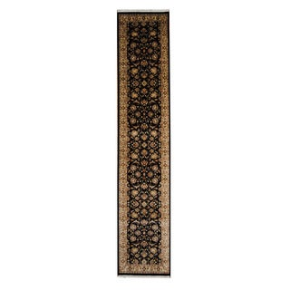 Herat Oriental Pakistani Hand-knotted Tabriz Wool Runner (2'7 x 13')