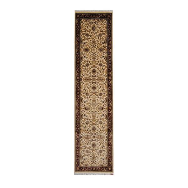 Herat Oriental Pakistani Hand-knotted Tabriz Wool Runner (2'6 x 10'6)