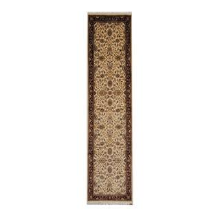 Herat Oriental Pakistani Hand-knotted Tabriz Wool Rug (2'6 x 10'6)