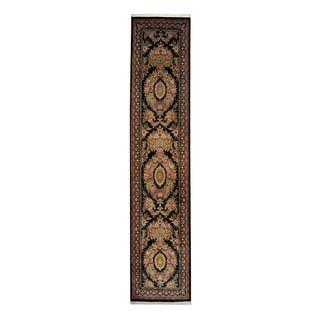 Herat Oriental Pakistani Hand-knotted Tabriz Wool Rug (2'7 x 12'5)