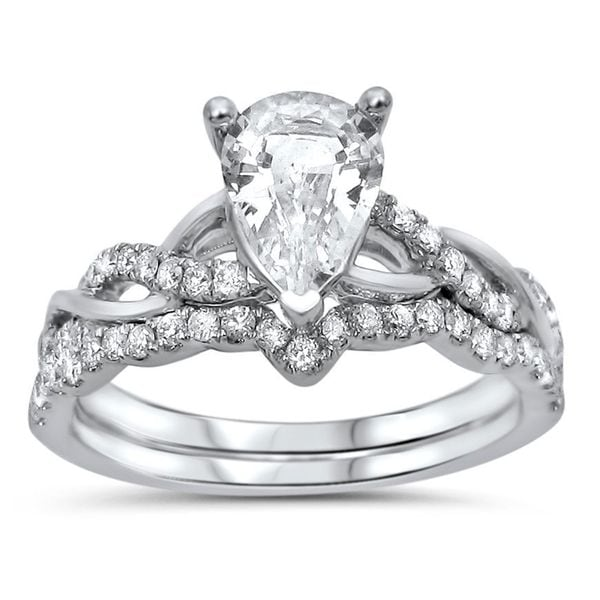 noori 14k white gold 2 5ct tdw and pear cut white