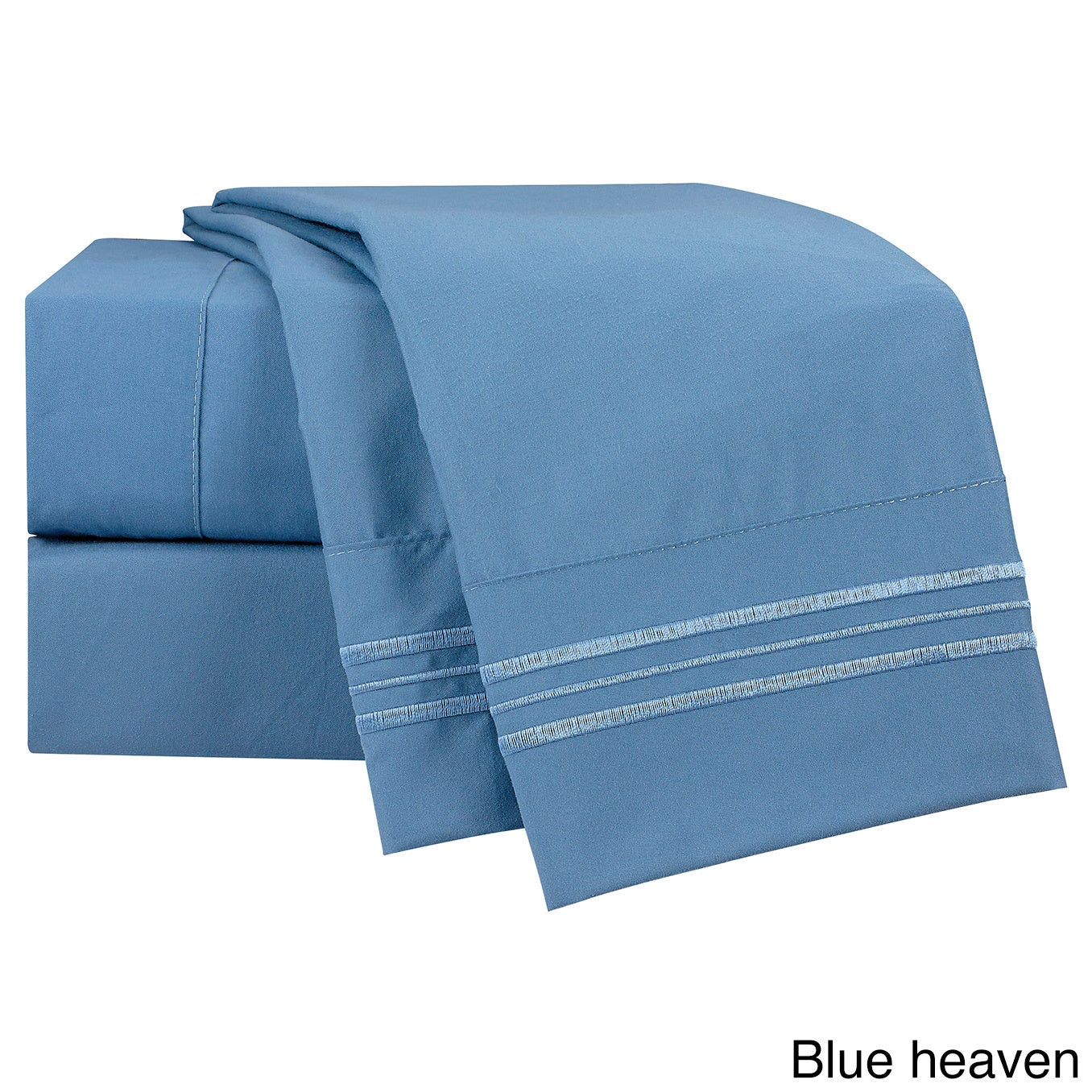 Clara Clark Bright Color Collection Bed Sheet Set (Blue H...