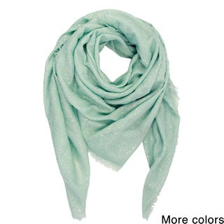 Saachi Women's Metallic Water Drop Oversized Square Scarf