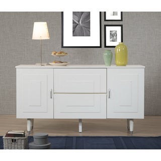 Aria Butter White 2-Door 2-Drawer Buffet