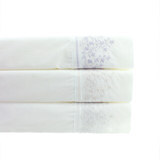 Baby's Breath Embroidery Egyptian Cotton Sheet Sets