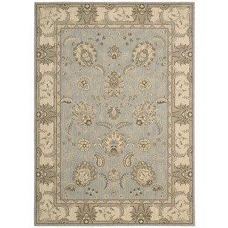Nourison Persian Empire Aqua Rug (5'3 x 7'5)