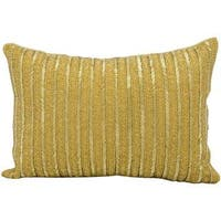 Mina Victory Beaded Stripes GoldThrow Pillow by Nourison (10-Inch X 14-Inch)
