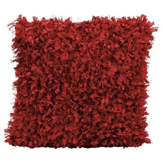 Michael Amini Shimmer Shag Red Throw Pillow (20-inch x 20-inch) by Nourison