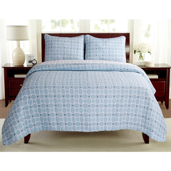 Aria Cotton 3-piece Quilt Set