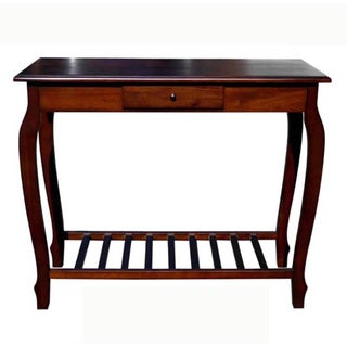 D-Art Carolina Dark Mahogony Wood Console Table (Indonesia)