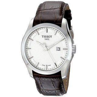 Tissot Men's T0354101603100 'Couturier' Brown Leather Watch