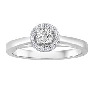 Platinaire 1/4ct TDW Round Diamond Solitaire Engagement Ring