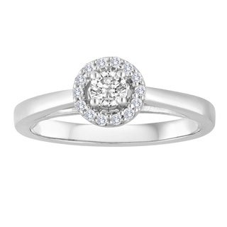 Platinaire 1/4ct TDW Round Diamond Solitaire Engagement Ring (H-I, I2-I3)