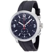 Tissot Men's T0554171705700 'PRC 200' Chronograph Black Rubber Watch