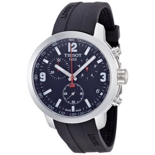 Tissot Men's T0554171705700 'PRC 200' Chronograph Black Rubber Watch - N/A