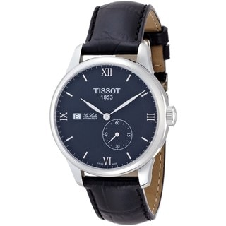 Tissot Men's T0064281605800 'Le Locle' Automatic Black Leather Watch