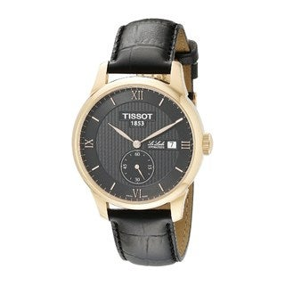 Tissot Men's T0064283605801 'Le Locle' Automatic Black Leather Watch