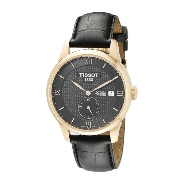 5968d508b Shop Tissot Men's T0064283605801 'Le Locle' Automatic Black Leather Watch -  Free Shipping Today - Overstock - 10327503