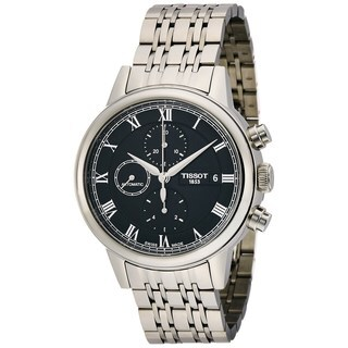 Tissot Men's T0854271105300 'Carson' Automatic Chronograph Stainless Steel Watch