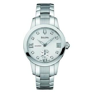 Bulova Accutron Women's 63P01 Swiss Quartz Stainless Steel Diamond Watch