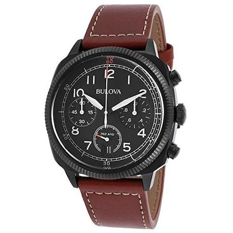 Bulova Men's 98B245 Stainless Steel Chronograph UHF Watch - Black