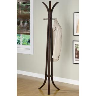 Curved Cappuccino Wood Coat Rack