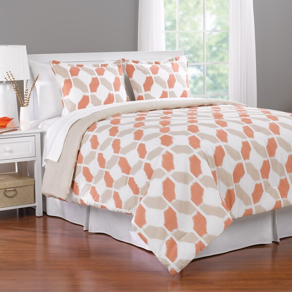 Valentina Geometric 3-piece Comforter Set