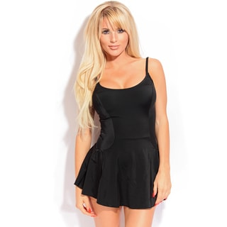 Dippin' Daisy's Women's Solid Black One-piece Swimdress