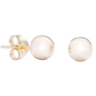 Pori 14k Yellow Gold 3mm Ball Stud Earrings