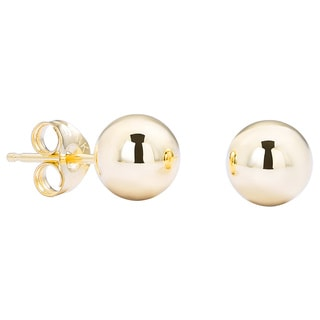 Pori 14k Yellow Gold 4mm Ball Stud Earrings