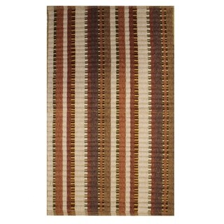 "Silk Ribbed Adobe Rug (21"" x 34"")"