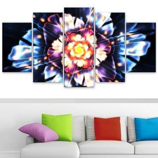 Design Art 'Natural Energy' 60 x 32-inch 5-panel Canvas Art Print