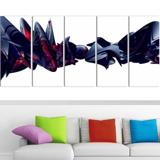 Design Art 'Nice to Meet You' 60 x 28-inch 5-panel Abstract Canvas Art Print