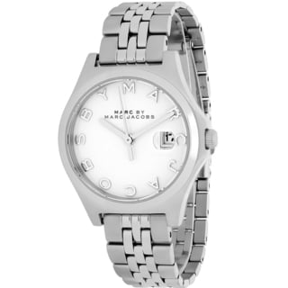 Marc Jacobs Women's MBM3391 Slim Round Silvertone Stainless Steel Bracelet Watch
