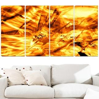Design Art 'Yellow Sandstorm' 48 x 28-inch 4-panel Modern Canvas Art Print