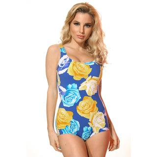 Dippin' Daisy's Missy Blue Rose Basic One-piece Bathing Suit