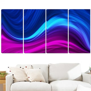 Design Art 'Synchronicity' 48 x 28-inch 4-panel Contemporary Canvas Art Print