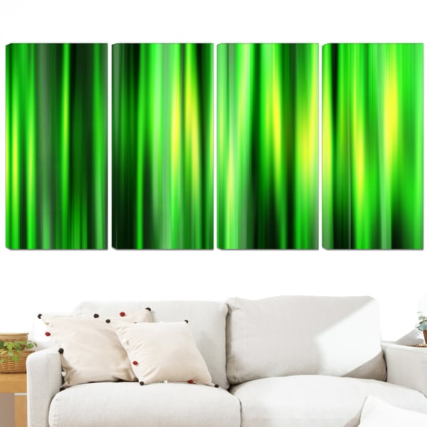 Design Art 'Abstract Bamboo' 48 x 28-inch 4-panel Contemporary Canvas Art Print
