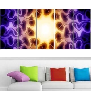 Design Art 'Light Shine Through' 60 x 28-inch 5-panel Modern Canvas Art Print