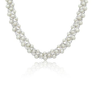 Gioelli Sterling Silver Freshwater Pearl Necklace (6-7mm)